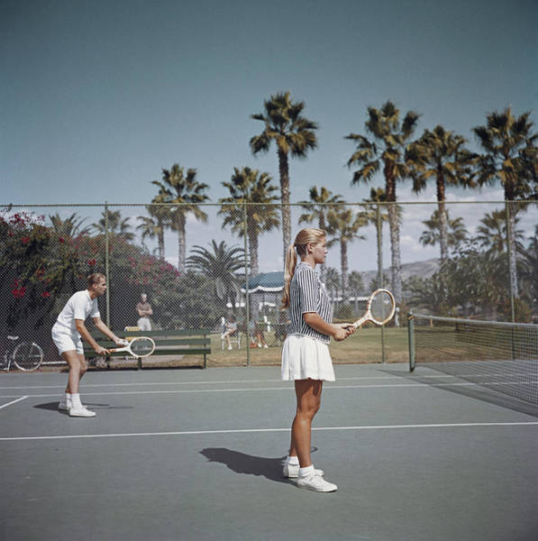 Court Photograph - Tennis In San Diego by Slim Aarons