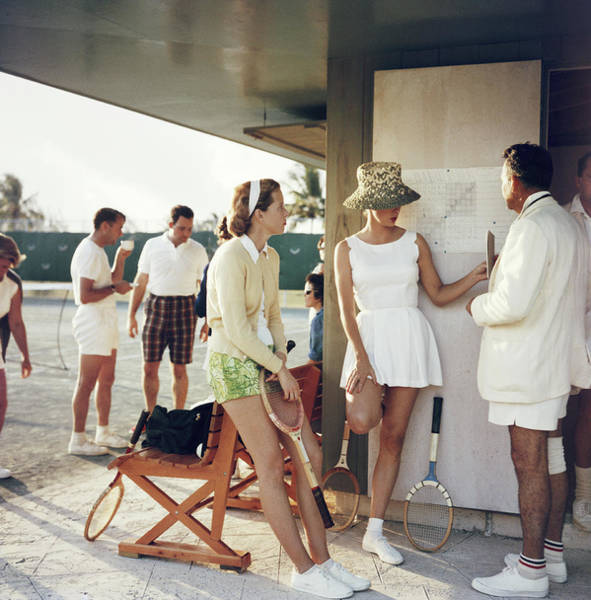 Tennis In The Bahamas Art Print by Slim Aarons