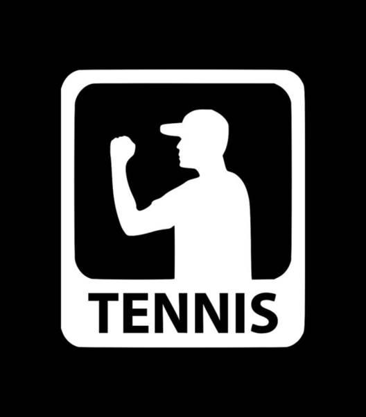 Backhand Digital Art - Tennis Man1 by Tee Titan