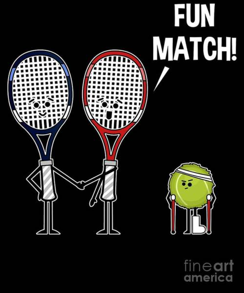 Ping-pong Digital Art - Tennis Match Not Fun For Tennis Balls Funny Roughed Up Tennis Ball by Sassy Lassy