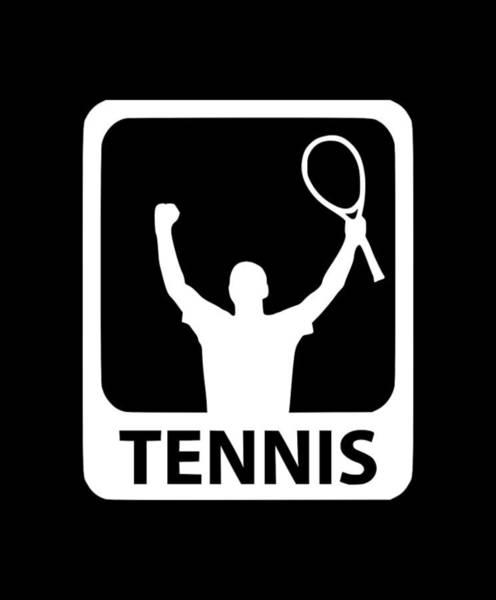 Backhand Digital Art - Tennis Match1 by Tee Titan