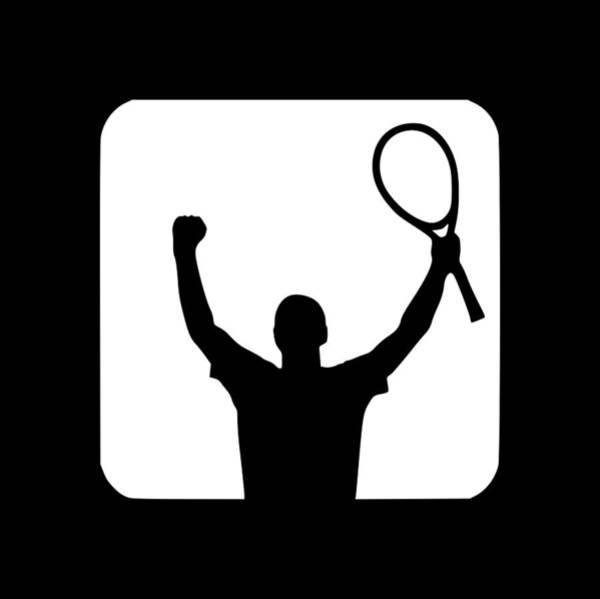 Backhand Digital Art - Tennis Player Win1 by Tee Titan