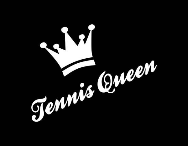 Backhand Digital Art - Tennis Queen1 by Tee Titan