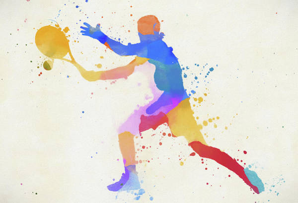 Wall Art - Mixed Media - Tennis Shot Paint Splatter by Dan Sproul