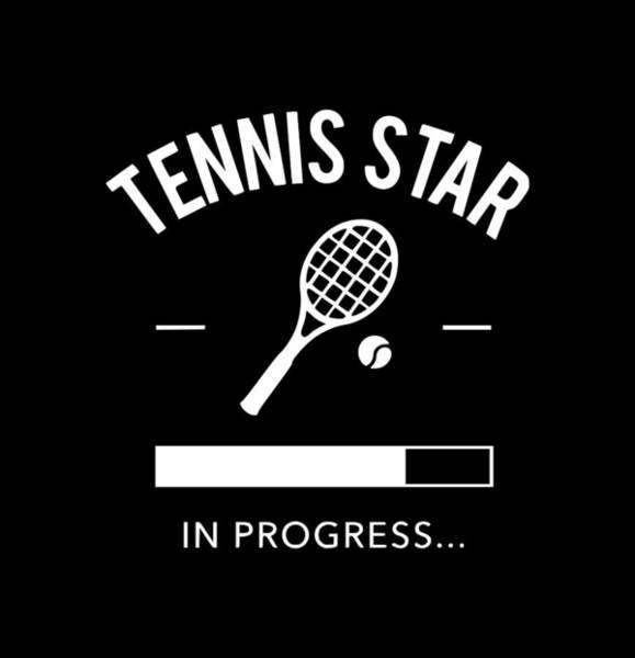 Backhand Digital Art - tennis staR1 by Tee Titan