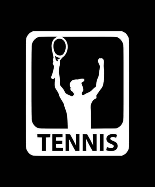 Backhand Digital Art - Tennis Team Player1 by Tee Titan