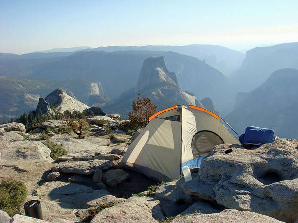 Tent Photograph - Tent On Clouds Rest, Yosemite by Amy Halverson