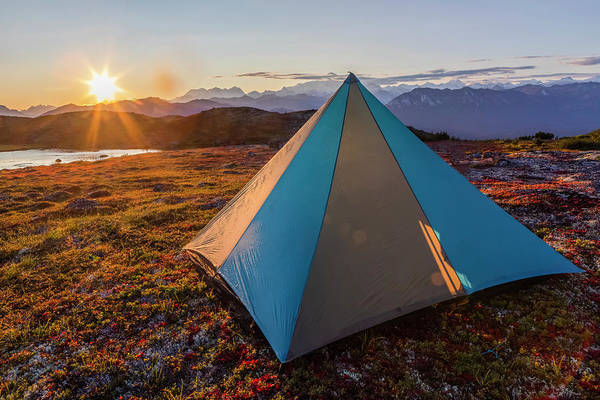 Wall Art - Photograph - Tent Pitched On Tundra With Denail by Amber Johnson