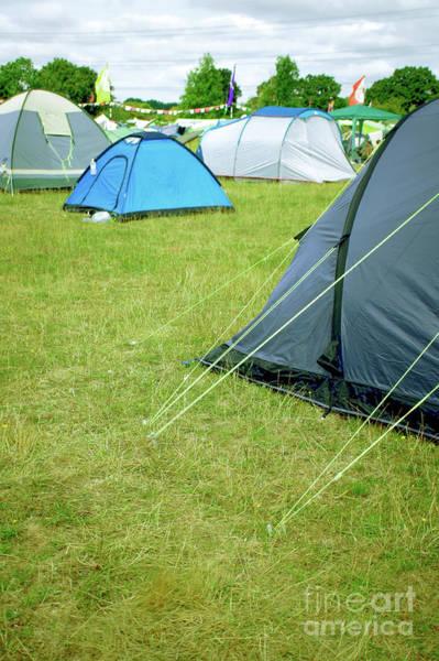 Wall Art - Photograph - Tents In A Field by Tom Gowanlock