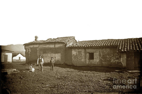 Photograph - Teodoro Arrellanes Adobe, Santa Barbara  Circa 1880 by California Views Archives Mr Pat Hathaway Archives