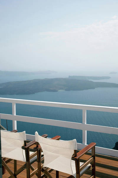 Luxury Hotel Photograph - Terrace Balcony Overlooking A Bay In by Cultura Exclusive/philip Lee Harvey
