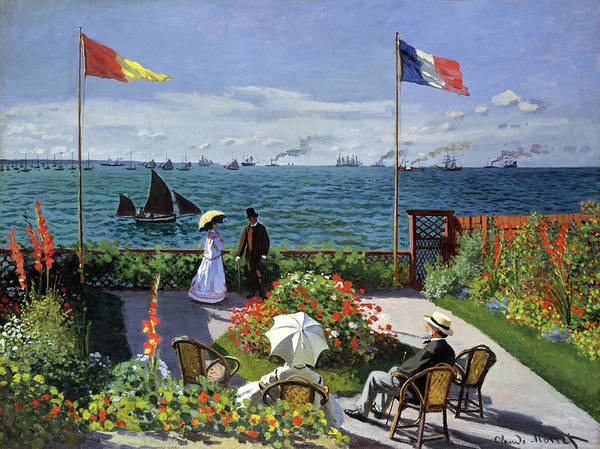 Wall Art - Painting - Terrace In Sainte-adresse - Digital Remastered Edition by Claude Monet