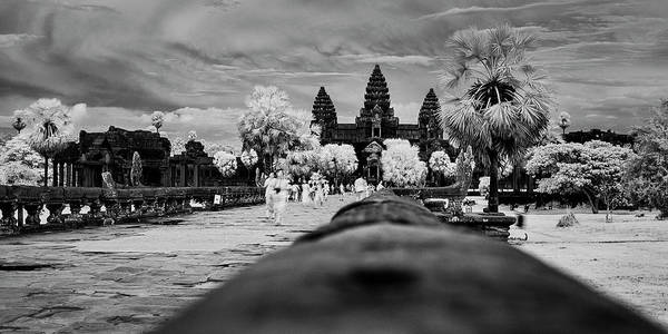 Wall Art - Photograph - Terrace Of Honor, Angkor Wat, Siem by Panoramic Images