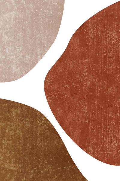 Wall Art - Mixed Media - Terracotta Art Print 1 - Terracotta Abstract - Modern, Minimal, Contemporary Abstract - Brown, Beige by Studio Grafiikka