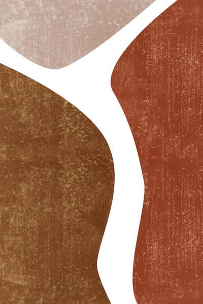 Wall Art - Mixed Media - Terracotta Art Print 2 - Terracotta Abstract - Modern, Minimal, Contemporary Abstract - Brown, Beige by Studio Grafiikka