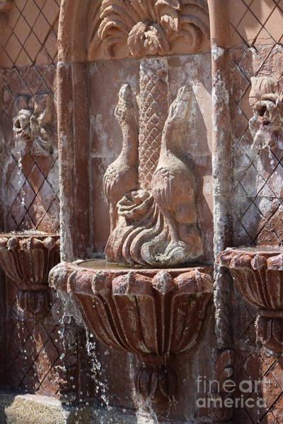 Photograph - Terracotta Fountain In Natural Sepia Tones by Colleen Cornelius