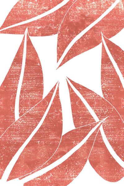 Wall Art - Mixed Media - Terracotta Leaf - Terracotta Abstract Print - Modern, Minimal, Contemporary Abstract - Burnt Orange by Studio Grafiikka