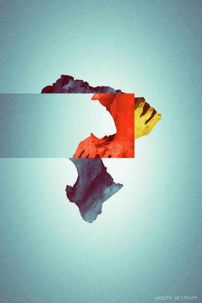 Photograph - Terrain - Surreal Abstract Skull Collage by Joseph Westrupp