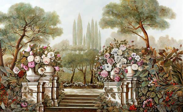 Terraces Wall Art - Painting - Terrazza Fiamminga by Guido Borelli