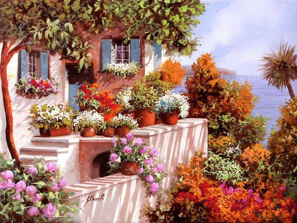 Terraces Wall Art - Painting - Terrazza Intricata by Guido Borelli