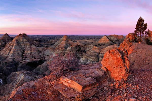 Photograph - Terry Badlands Sunrise by Leland D Howard