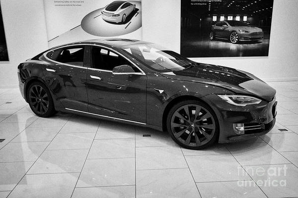 Wall Art - Photograph - Tesla Model S In A Tesla Gallery Showroom In Florida Usa United States Of America by Joe Fox