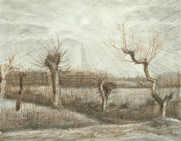 Wall Art - Drawing - Tetards  by Vincent van Gogh