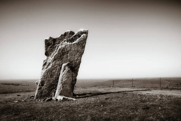 Historical Marker Photograph - Teter Rock by James Barber