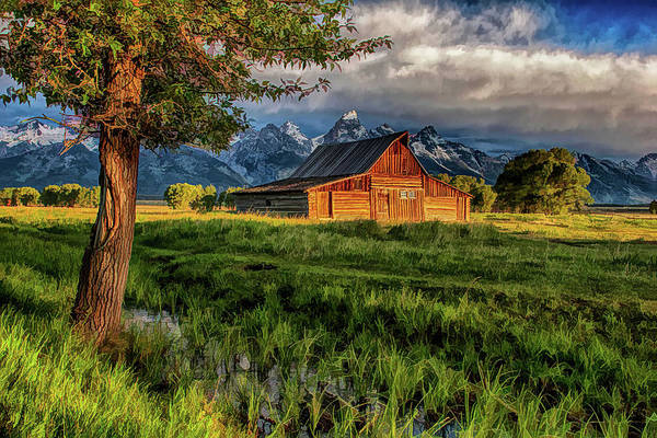 Moulton Wall Art - Painting - Grand Teton National Park Moulton Barn by Christopher Arndt