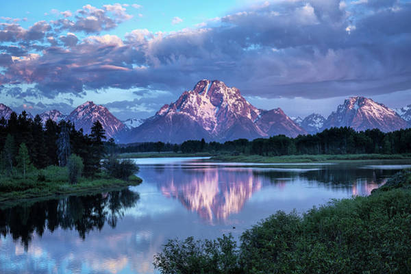 Photograph - Teton Oxbow Morning 9087 by Harriet Feagin
