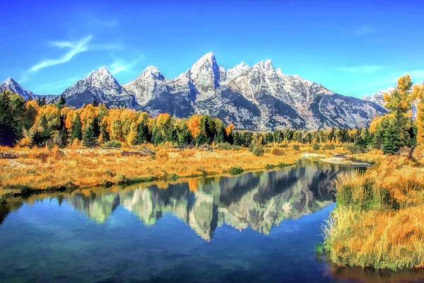 Painting - Grand Teton National Park Mountain Reflections by Christopher Arndt
