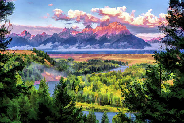 Painting - Grand Teton National Park Snake River by Christopher Arndt