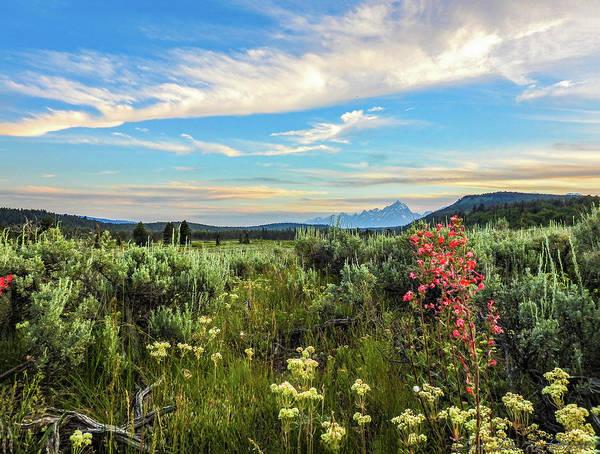 Photograph - Teton Sunest by Teri Ridlon
