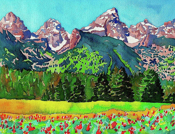 Painting - Teton Wildflowers by Dan Miller