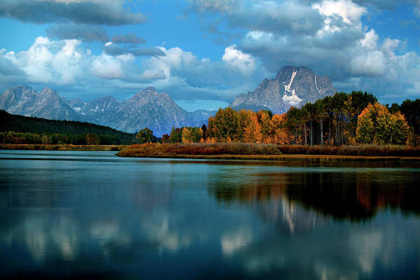 Photograph - Tetons In Autumn by David Chasey