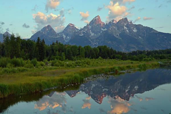 Photograph - Tetons Reflection At Schwabachers Landing by Bruce Gourley