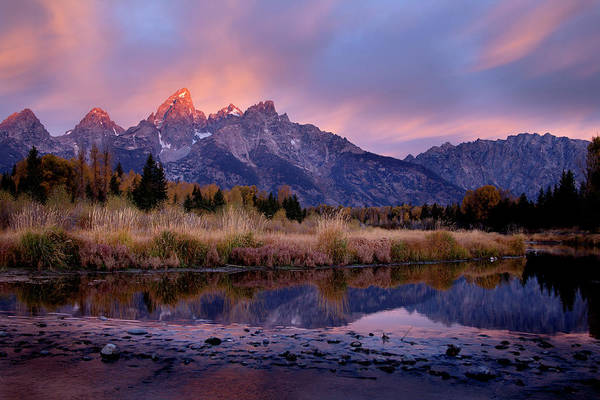 Photograph - Tetons Sunrise by David Chasey