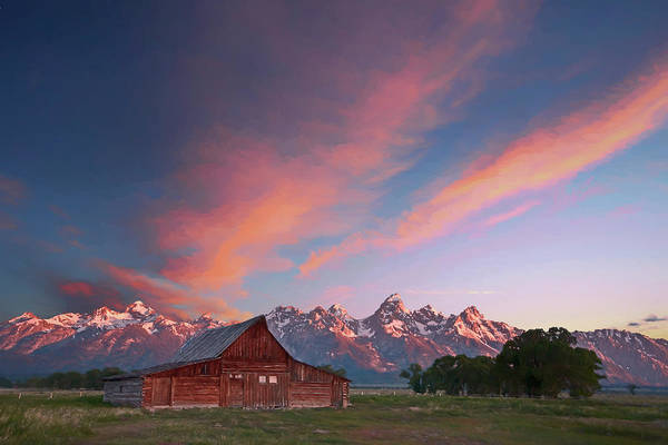 Wall Art - Digital Art - Tetons Sunrise V by Jon Glaser