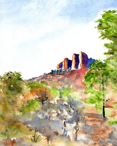Painting - Texas Big Bend Casa Grande Peak by Carlin Blahnik CarlinArtWatercolor