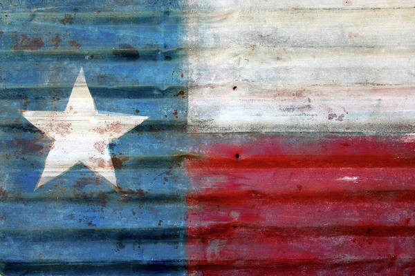 Usa Flag Photograph - Texas Flag by Colevineyard