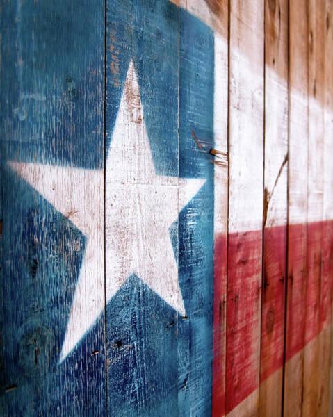 Usa Flag Photograph - Texas Flag Rustic by Lanier