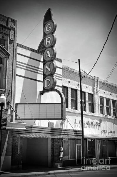 Wall Art - Photograph - Texas Forgotten Grand Theatre by Chris Andruskiewicz