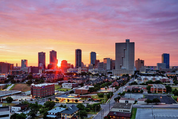 Wall Art - Photograph - Texas, Fort Worth Skyline At Sunrise by Jeremy Woodhouse