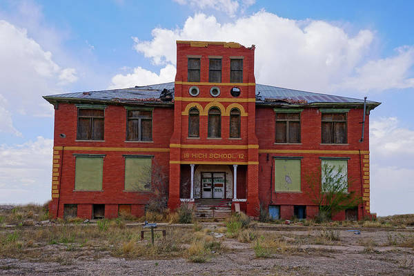 Photograph - Texas Ghost Town School  by Kelly Gomez