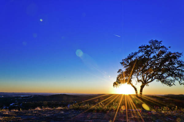 Beauty In Nature Wall Art - Photograph - Texas Hill Country At Sunset by Bullcreekstudio.com