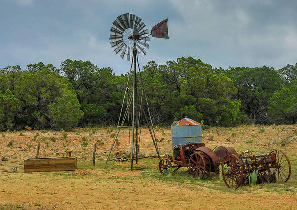 Photograph - Texas Hill Country Windmill by Dan Sproul