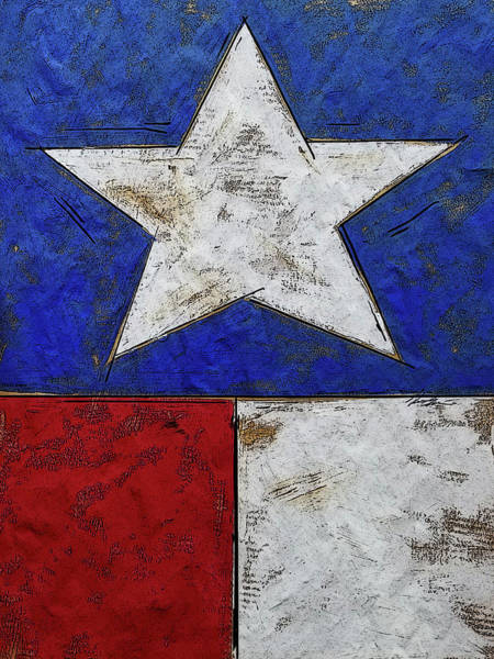Wall Art - Painting - Texas  by Kim Guthrie