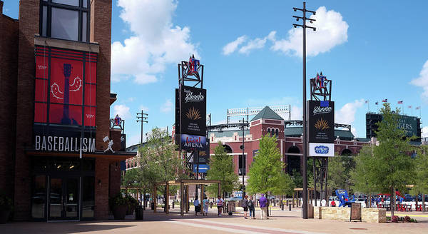 Photograph - Texas Live New Rangers Ballpark 070219 by Rospotte Photography