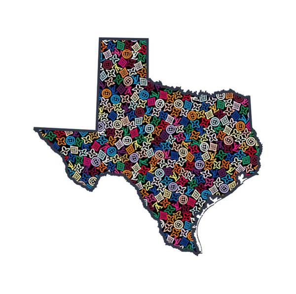Tx Wall Art - Painting - Texas Map - 1 by Nikita