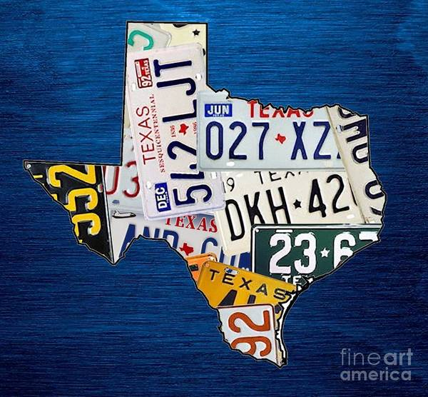 Tx Wall Art - Mixed Media - Texas by Mikebimages